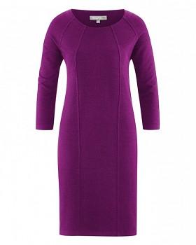 ANDREA Dámské šaty z konopí a biobavlny - fialová berry