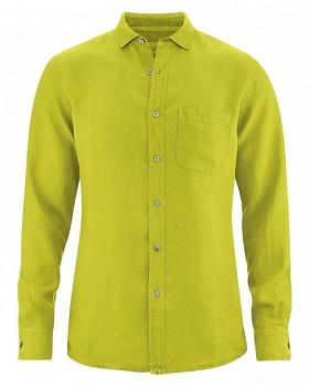 EMPEROR pánská košile ze 100% konopí - zelená apple