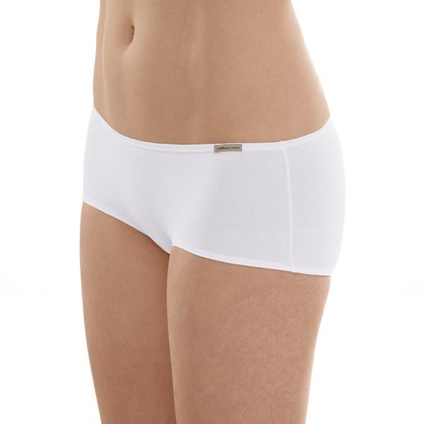 bef9a01c8c3 Comazo Earth Dámské bokové kalhotky panty z biobavlny - bílá 30denni ...