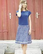 top AUDRY v modré barvě