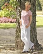 kalhoty Summer v bílé barvě