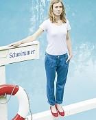 kalhoty ALICE v modré barvě