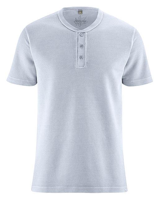 a3256fd9a5fd HENLEY pánské tričko z konopí a biobavlny - světle modrá clear sky 30denni  garance vraceni zbozi logo - fair trade oblečení z biobavlny