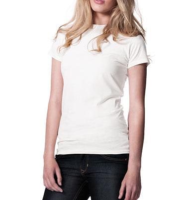 69ad9aa919 Dámské tričko z 100% biobavlny - bílá 30denni garance vraceni zbozi logo -  fair trade oblečení z biobavlny
