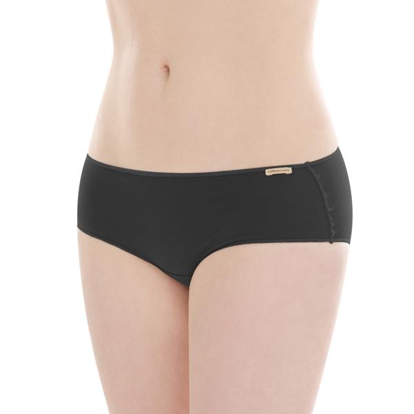 Comazo Earth Dámské kalhotky hipster ze 100% biobavlny - černá 30denni  garance vraceni zbozi logo - fair trade oblečení z biobavlny 23b897a136