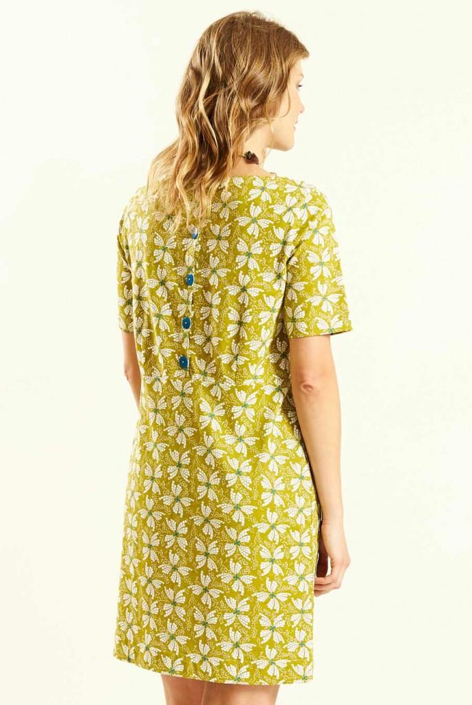 4b3d0070e2cf PAPILLON dámské letní mini šaty   tunika ze 100% biobavlny - žlutá avocado.  3 obrázky v galerii