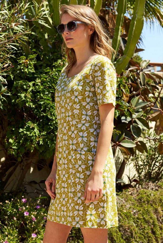 253f2199d504 PAPILLON dámské letní mini šaty   tunika ze 100% biobavlny - žlutá avocado.  3 obrázky v galerii