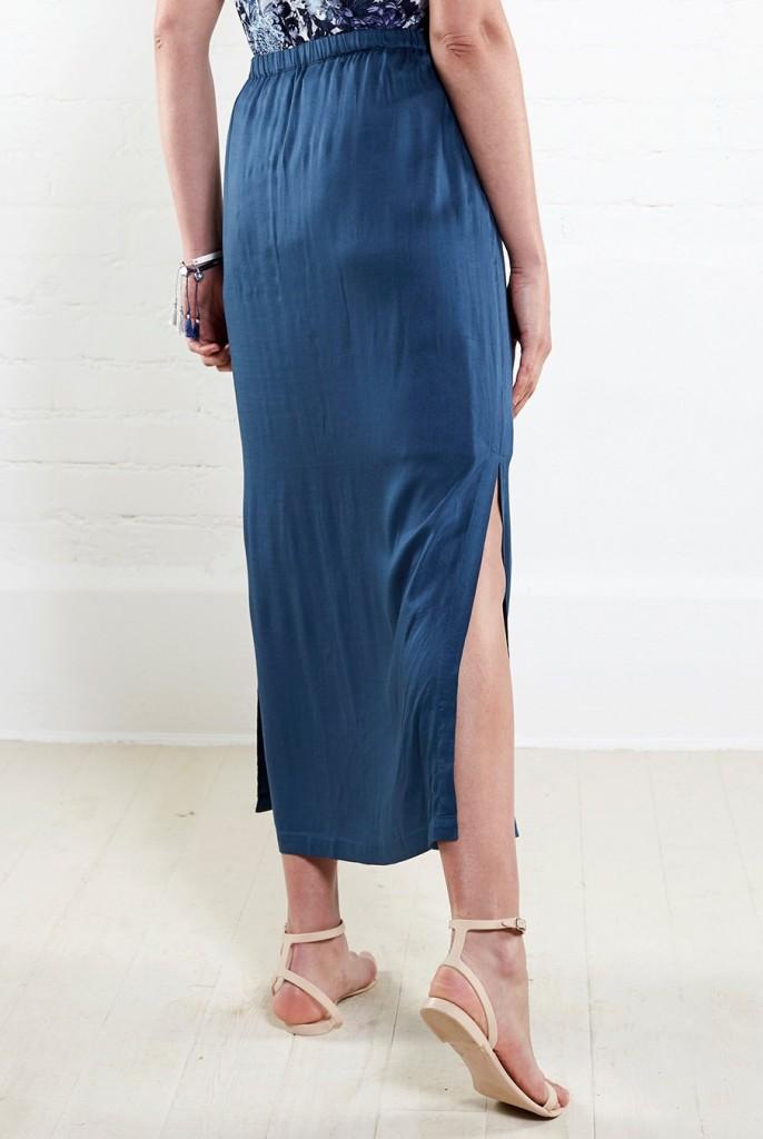 8cb1d85e25f ATLANTIC dámská letní maxi sukně - tmavě modrá. 2 obrázky v galerii
