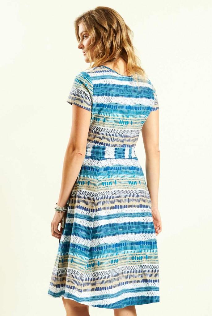 ec0c2e5f733 CROSS dámské letní šaty ze 100% biobavlny - modrá aegean. 4 obrázky v  galerii