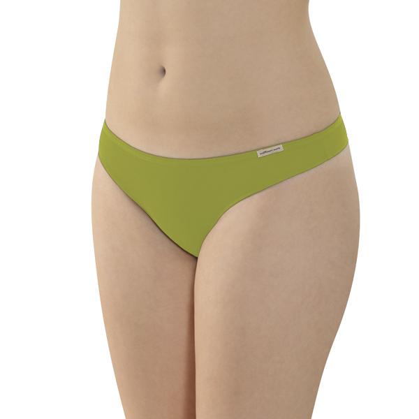 Comazo Earth Dámské kalhotky tanga z biobavlny - zelená kiwi 30denni  garance vraceni zbozi logo - fair trade oblečení z biobavlny ba4f330e7e