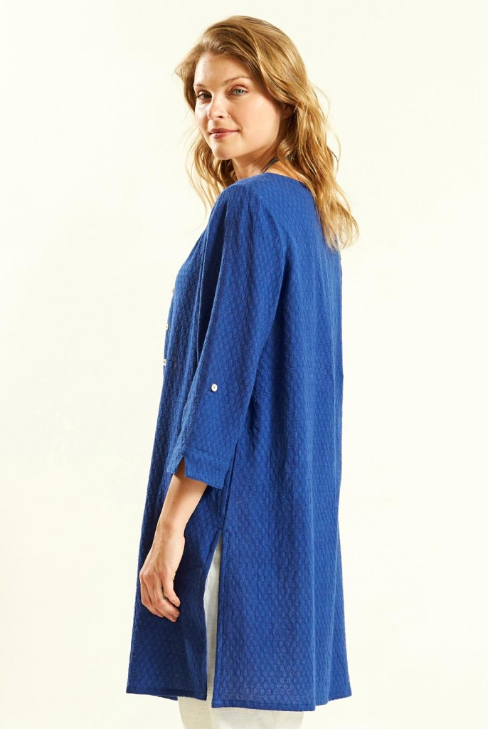 8edee4536e2 GLADE dámská propínací tunika ze tkané bavlny - modrá marine. 2 obrázky v  galerii