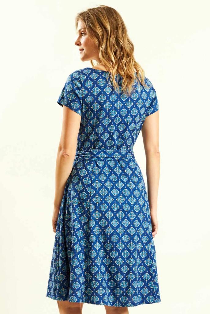 8f79f6dcb29 WIND dámské letní šaty ze 100% biobavlny - modrá indigo. 4 obrázky v galerii