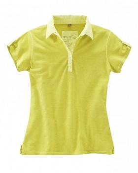 PAULA dámské polo tričko z biobavlny a konopí - zelené