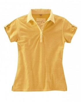 PAULA dámské polo tričko z biobavlny a konopí - oranžová