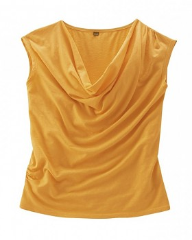 SISSY dámský top z konopí a biobavlny - pomerančový