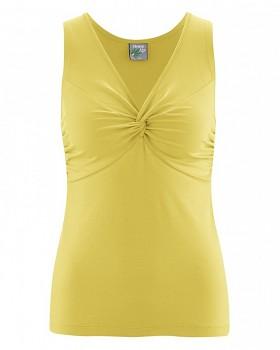 NORMA-JEAN dámský top z konopí a biobavlny - žlutá gold