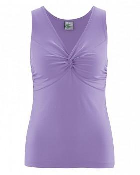 NORMA-JEAN dámský top z konopí a biobavlny - sv. fialová lila