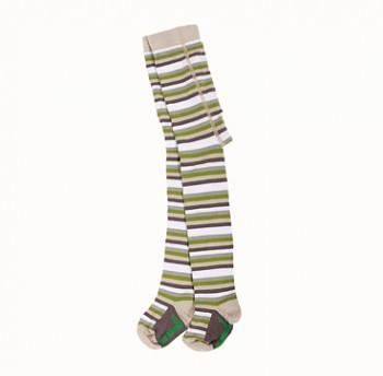 Dětské bambusové punčocháče (vel 68-116)- zelený proužek