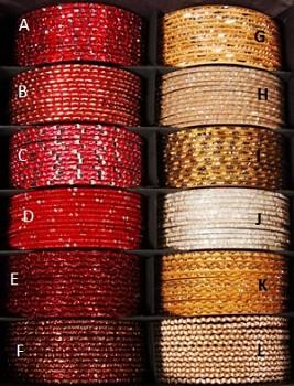 GLITTER náramek červená/zlatá
