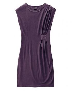 Dámské šaty z konopí a biobavlny JESSY - fialová lilek