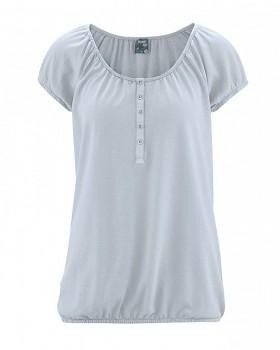 CLARA dámské triko s krátkým rukávem z konopí a biobavlny - sv. šedá platinová