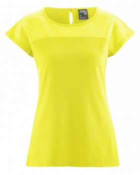 AUDRY dámský top z konopí, biobavlny a hedvábí - žlutá citrus