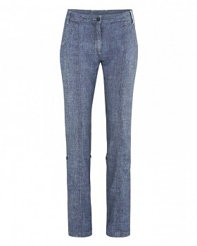 SILVIA dámské kalhoty z konopí a biobavlny  - džínový vzhled