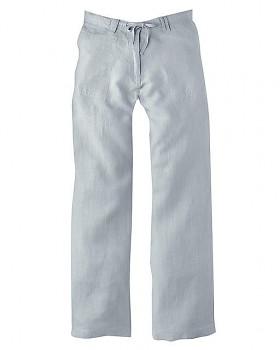 SUMMER dámské kalhoty ze 100% konopí - platinová