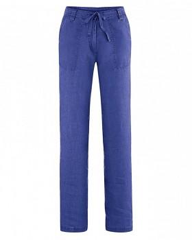 SUMMER dámské kalhoty ze 100% konopí - modrá