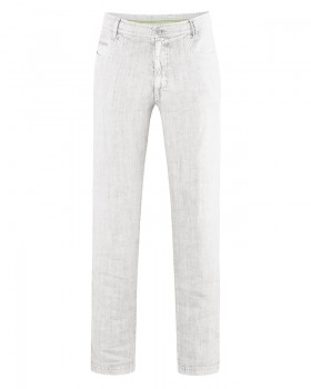 METRO unisex kalhoty ze 100% konopí - bílá