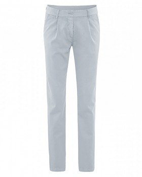 ALICE dámské kalhoty z biobavlny a konopí - sv. šedá platinová