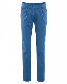 ALICE dámské kalhoty z biobavlny a konopí - modrá sea