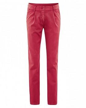 ALICE dámské kalhoty z biobavlny a konopí - červená chilli