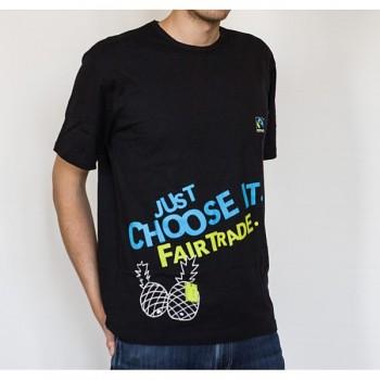 JUST CHOOSE FT pánské černé tričko
