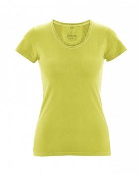 SUNNY Dámské tričko z biobavlny a konopí - zelená apple