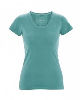 SUNNY Dámské tričko z biobavlny a konopí - modrozelená pacific