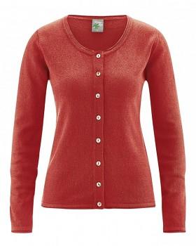 LOLA dámský pletený svetr z konopí a biobavlny - šípková