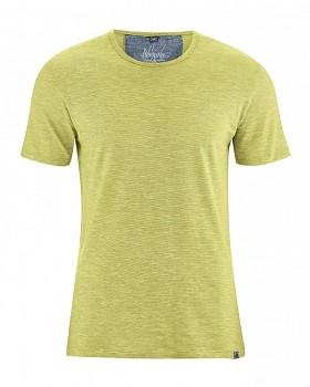 MARC pánské tričko s krátkým rukávem z biobavlny a konopí -  zelená jablková melange