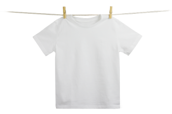 Dětské tričko z 100% biobavlny - bílé