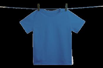 Dětské tričko z 100% biobavlny - modrá