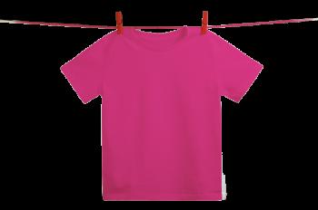 Dětské tričko z 100% biobavlny - růžová