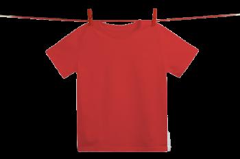 Dětské tričko z 100% biobavlny - červená