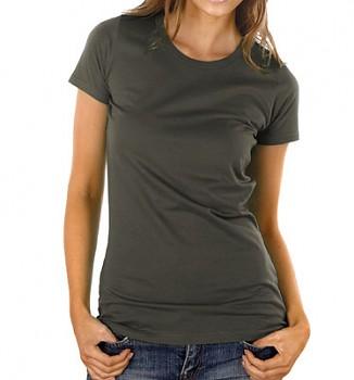 Dámské tričko z 100% biobavlny - tmavě šedá