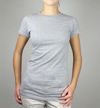 Dámské tričko z 100% biobavlny - šedá melange