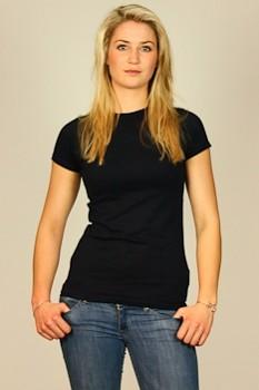 Dámské tričko z 100% biobavlny - černá