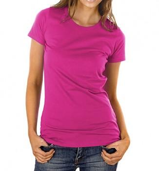 Dámské tričko z 100% biobavlny - růžová