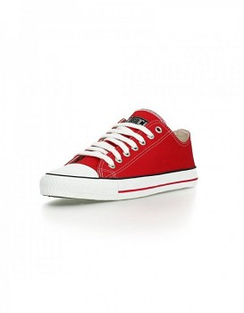 Fair Trainer White cap Lo cut Classic - červená creanberry