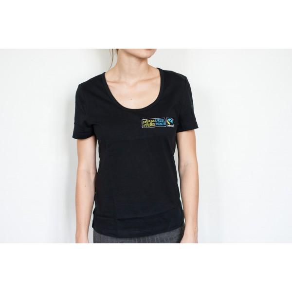 7d69747dfc7 MÁME NA VÝBĚR dámské černé tričko 30denni garance vraceni zbozi logo ...