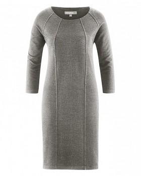 ANDREA Dámské šaty z konopí a biobavlny - black/white