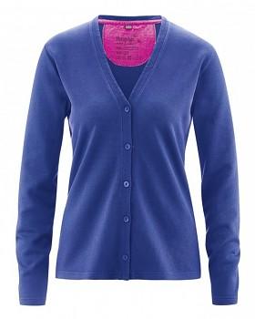 DOREEN dámský svetr z konopí a biobavlny - modrá chrpová